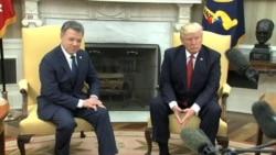 Trump y Santos en la Casa Blanca