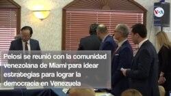 Nancy Pelosi se reúne con la comunidad venezolana en el sur de la Florida