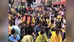 """台湾学运领袖吁美调整""""一中""""政策"""