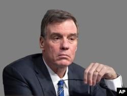 Headshot of Senate Intelligence Committee Vice Chairman, Democrat Mark Warner.