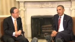 VOA连线:克里与韩外长举行记者会;奥巴马和潘基文举行双边会谈