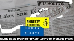 A report by Amnesty International and Human Rights Watch says South Sudanese journalists are being harassed, intimidated and detained by government security agents.
