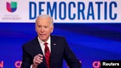 Candidato à nomeação democrata, ex Vice Presidente Joe Biden