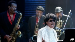 FILE - Little Richard performs at The Domino Effect, a tribute concert to New Orleans rock and roll musician Fats Domino, at the New Orleans Arena in New Orleans, Louisiana, May 30, 2009.
