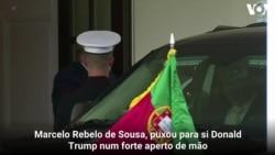Presidente Trump recebeu o Presidente português - veja o momento do forte aperto de mão