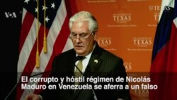 """Tillerson llama """"hostil y corrupto"""" al régimen de Nicolás Maduro"""