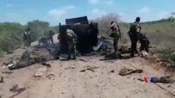 2019-01-20 美國之音視頻新聞: 美軍報復索馬里軍事基地受襲擊斃52名索馬里青年 黨槍手