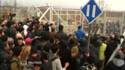 Macedonian Police Tear Gas Migrants