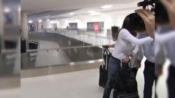 María Corina Machado de tránsito en Miami camino a Washington