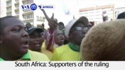 VOA60 Africa- South Africa: Supporters of the ruling ANC party call for President Jacob Zuma to resign