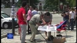 Protesta ndaj vjedhjes në Bankën e Shqipërisë