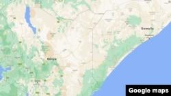 Kenya, Somalia map