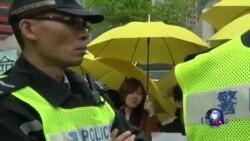 香港抗议学生继续绝食呼吁特首重启对话