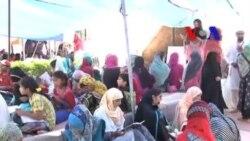 اسلام آباد میں مظاہرین کا 'عارضی اسکول'
