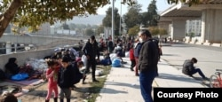 FILE - Families crowd together in the streets despite coronavirus fears, in Izmir, Turkey, April 13, 2020. (Photo courtesy of refugees)