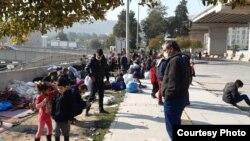 Families crowd together in the streets despite coronavirus fears, in Izmir, Turkey, April 13, 2020. (Photo courtesy of refugees)
