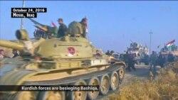 Kurdish Forces Besiege Key IS Town Near Mosul