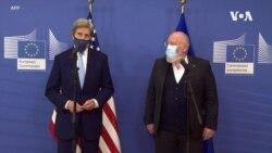 美國氣候特使克里在布魯塞爾會晤歐盟領導人