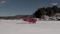 Նյու Հեմփշիրի Վիննիչփեսաուքի լիճն ամեն ձմեռ վերածվում է թռիչքուղու՝ տեղական ինքնաթիռների համար