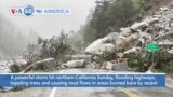 VOA60 America - Powerful storm hits California flooding highways, toppling trees and causing mud flows