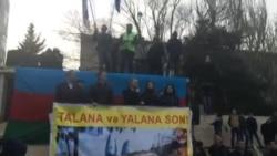 Mitinqdə Milli Şuranın sədri Cəmil Həsənli çıxış edir -1