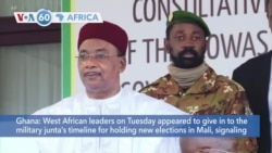 VOA60 Afrikaa - African leaders appeared to give in to the military junta's timeline for holding new elections in Mali