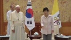 El papa Francisco llega a Corea