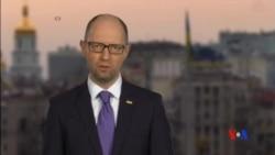 2016-04-11 美國之音視頻新聞: 烏克蘭總理亞采紐克宣布辭職