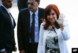 Elected vice president Cristina Fernandez de Kirchner arrives to court in Buenos Aires, Argentina, Dec. 2, 2019.