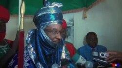 TASKAR VOA: Mai Martaba Sarkin Kano Muhamadu Sanusi Lamido Sanusi Ya Gana Da Matasan Kungiyar ECOWAS A Yamai
