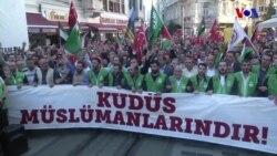Taksim'de Dev Kudüs Protestosu