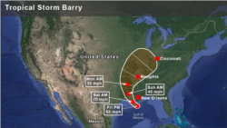 အေမရိကန္ေတာင္ပုိင္း Louisiana ကမ္း႐ုိးတန္း မုန္တုိင္းသတိေပးခ်က္ ထုတ္ျပန္