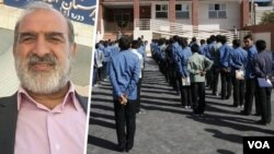 FILE -- Iranian teachers union leader Ali Akbar Baghani told VOA Persian in an April 6, 2020, interview that Iran's education system faces huge problems if a coronavirus-stalled school year is restarted in mid-April.