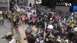 港人再街頭抗議國歌法及港版國安法 警方四處佈防大圍捕