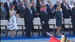 Трамп на прославата на Денот на Бастилја