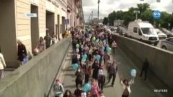 Rusya'daki Gösteriler Dördüncü Haftasında