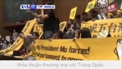 Sinh viên Đài Loan phản đối thoả thuận thương mại với TQ (VOA60)