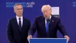 Президент Трамп выступил в штаб-квартире НАТО в Брюсселе