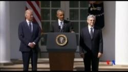 2016-04-04 美國之音視頻新聞: 國會復會 參議員繼續大法官提名人選之爭