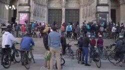 Благословение велосипедов в Нью-Йорке