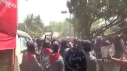 """緬甸當局: 警方""""依法""""驅散抗議者"""