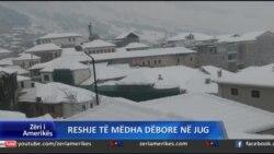 Gjendje e keqe nga dëbora në Jug të Shqipërisë