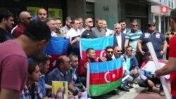 Azərbaycanlı siyasi mühacirlər Almaniyada aksiya keçirib