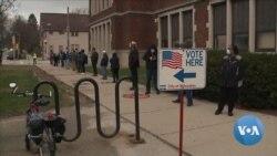 VOA英语视频: 威斯康辛州选民冒着感染病毒风险前来投票