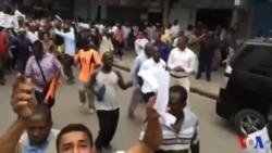 Protestation à Mombassa, au Kenya.