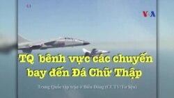Trung Quốc bênh vực các chuyến bay đến Đá Chữ Thập
