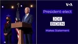 Joe Biden ya yi magana a kan zaben, ranar Alhamis da safe, 7 ga Nuwamba, 2020