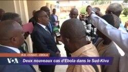 Deux nouveaux cas d'Ebola dans le Sud-Kivu