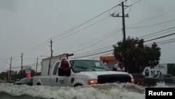 Тропический шторм привел к наводнениям в Хьюстоне, 19 сентября 2019 года