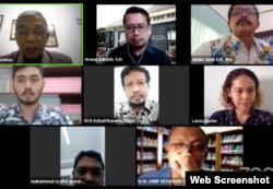 Diskusi TPK Urgensi, Relevansi, dan Masa Depan Pemberantasan Korupsi, Selasa (29-7) oleh PSH UII, Yogyakarta. (Foto: screenshot)